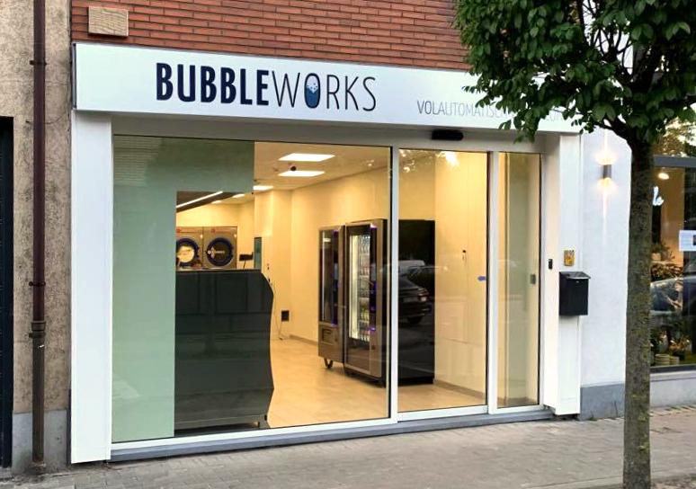 Voorgevel wassalon Bubbleworks Sint Janstraat Aalst