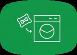 wasmachine vullen